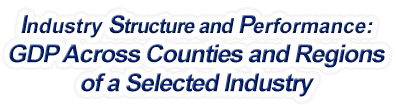 Indiana - Gross Domestic Product Across Counties and Regions of a Selected Industry